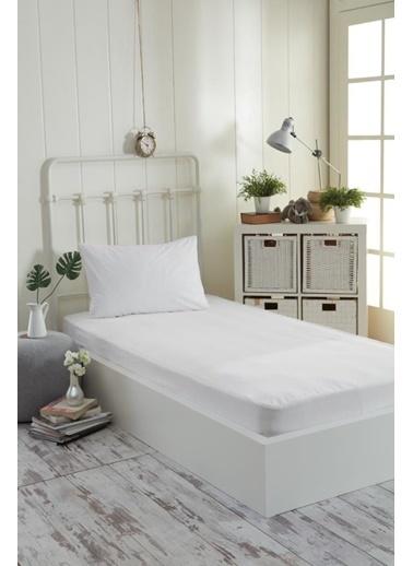Decovilla  180x200 Pamuklu Fitted Sıvı Geçirmez Alez Beyaz